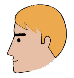 Head profile man avatar character vector