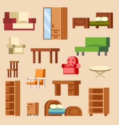 home interior furniture furnishings design vector image vector image