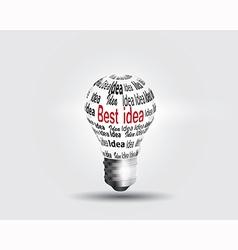 Lamp idea vector