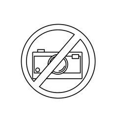 no camera icon vector image