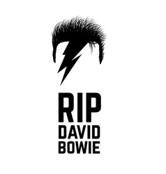 Rip david bowie vector