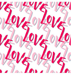 romantic valentines day pattern with lettering vector image vector image