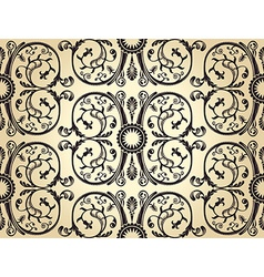 Seamless background pattern vintage heraldic vector image