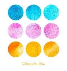 Set of watercolor dots vector image