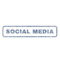 social media textile stamp vector image