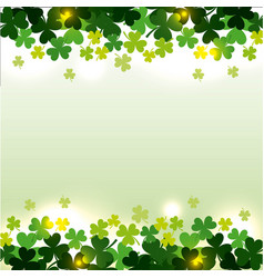 St patricks day clovers seamless pattern vector