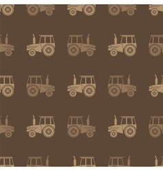 Tractor Icon Seamless Pattern for Farm vector image
