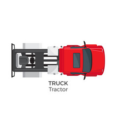 Tractor truck top view flat icon vector