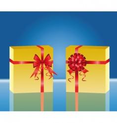 two yellow gift box vector image vector image
