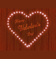 valentines day heart made of lights vector image