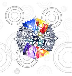 Watercolored seamless mandala texture vector