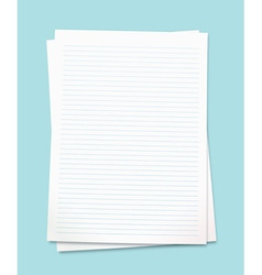 white paper vector image vector image