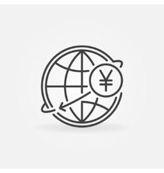 Yen international money transfer vector image