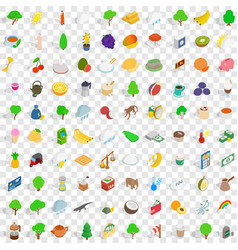 100 sri lanka icons set isometric 3d style vector