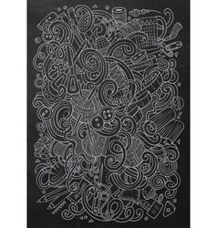 Cartoon cute doodles hand drawn Handmade vector image