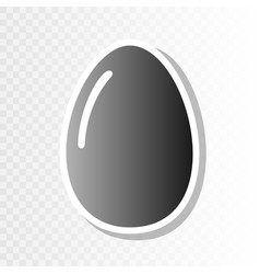 chiken egg sign  new year blackish icon on vector image