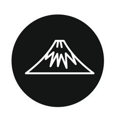 mountain volcano fuji icon isolated on white vector image