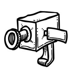 cartoon image of camera icon camera symbol vector image