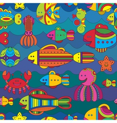 Fishes background vector