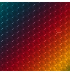 Abstract hexagon shape design template vector