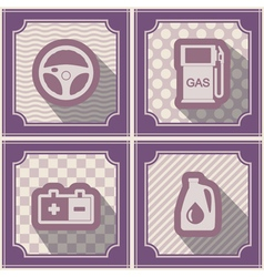 Seamless background with cars icons vector