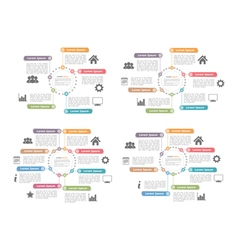 Circle diagram templates set vector