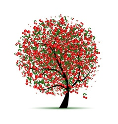 Energy cherry tree for your design vector