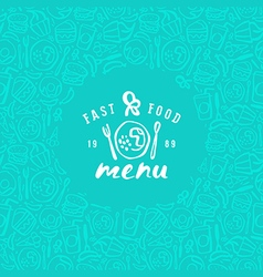 Stock fast food cover for menu vector