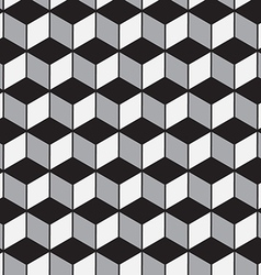 Abstract geometric tiles 3D seamless pattern vector image vector image