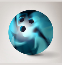 Bowling ball 3d realistic vector