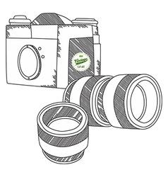Camera theme vector
