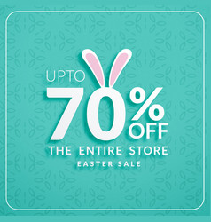 Discount banners for happy easter celebration vector