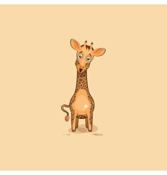 Emoji character cartoon Giraffe surprised vector image vector image