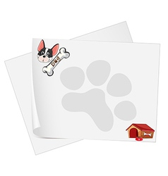 Empty paper templates with a dog vector image vector image