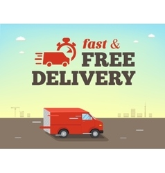 fast shipping concept Truck van vector image vector image