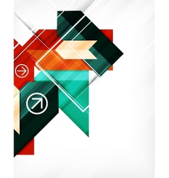 Geometric abstraction business poster vector image