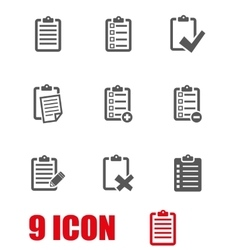 grey check list icon set vector image