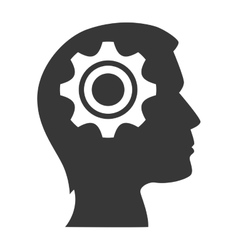 human head profile vector image