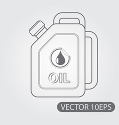 jerrycan oil icon black and white outline drawing vector image