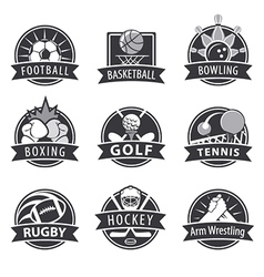 Large set of logos for sports vector