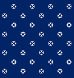 Lifebuoy on blue background seamless pattern vector