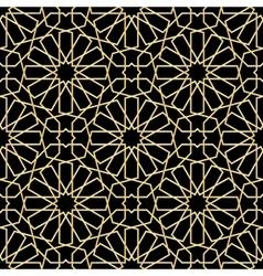 Moroccan gold seamless vector