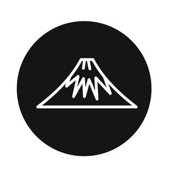 mountain volcano fuji icon isolated on white vector image