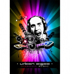 music event background with Dj vector image vector image