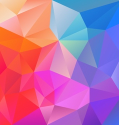 Neon blue pink purple multi colored polygon vector