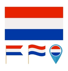 Netherlands country flag vector image vector image