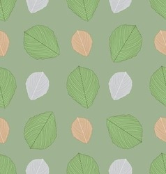 Ornate seamless pattern with the leaves vector image vector image