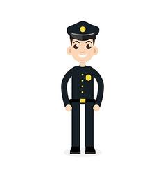 police oficer icon vector image vector image