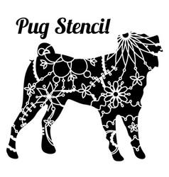 Pug dog stencil vector