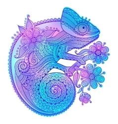Rainbow chameleon and vector